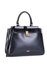 Czarna torebka klasyczna Wittchen casualowa, na ramię