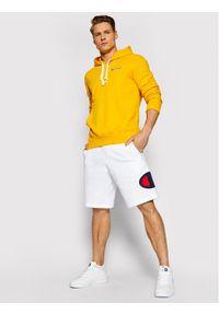 Champion Bluza Small Script Logo 215930 Żółty Comfort Fit. Kolor: żółty
