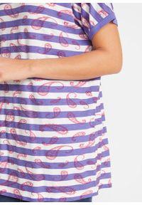 Fioletowa bluzka bonprix w paski