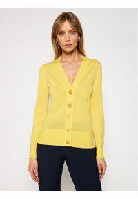 Tory Burch Kardigan Simone 64676 Żółty Regular Fit. Kolor: żółty