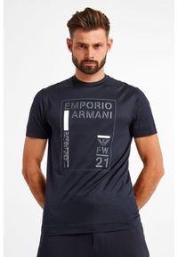 Emporio Armani - T-SHIRT EMPORIO ARMANI. Materiał: materiał. Wzór: aplikacja