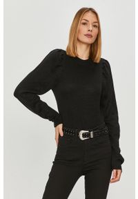 Czarny sweter only casualowy, z długim rękawem, długi, na co dzień