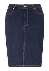 Niebieska spódnica Happy Holly klasyczna, w kolorowe wzory