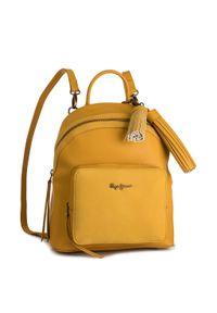 Żółty plecak Pepe Jeans elegancki