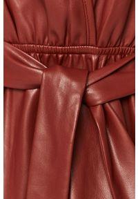 Czerwona sukienka Silvian Heach prosta, z krótkim rękawem, na co dzień #5