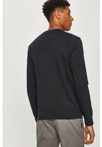 Niebieska bluza nierozpinana Armani Exchange na co dzień, z nadrukiem