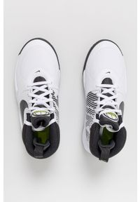 Białe buty sportowe Nike Kids z okrągłym noskiem, na sznurówki, z cholewką