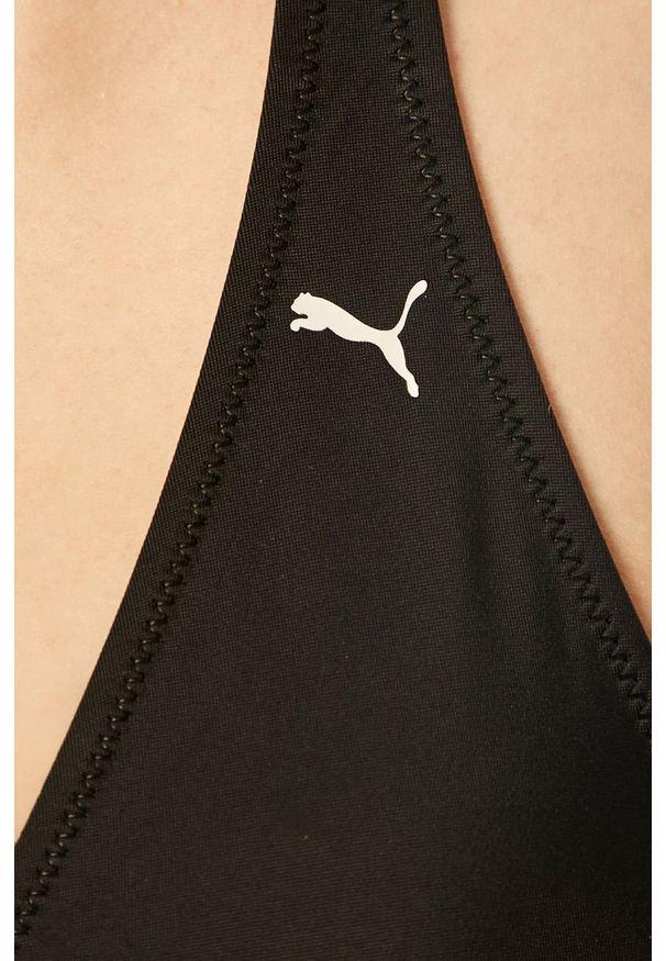 Czarny strój kąpielowy dwuczęściowy Puma z nadrukiem