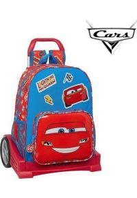 Cars Torba szkolna z kółkami Evolution Cars Mc Queen Niebieski Czerwony. Kolor: niebieski, czerwony, wielokolorowy