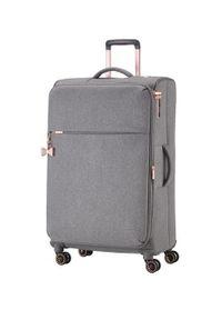 Szara walizka TITAN elegancka, gładkie