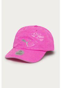 Różowa czapka z daszkiem Puma z nadrukiem