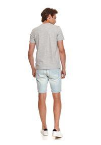 TOP SECRET - T-shirt z nadrukiem. Kolor: szary. Wzór: nadruk