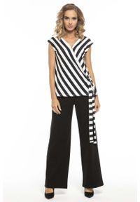 Tessita - Długie Czarne Dzianinowe Spodnie o Prostych Nogawkach. Kolor: czarny. Materiał: dzianina. Długość: długie