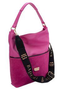 Duża torebka damska różowa Badura TD_202RO_CD. Kolor: różowy. Materiał: skórzane. Rozmiar: duże