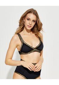 KIINI - Top od bikini Chacha. Kolor: czarny. Materiał: nylon, materiał, poliester