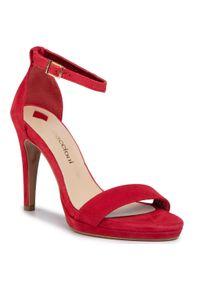 Czerwone sandały Maccioni eleganckie
