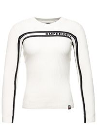 Superdry Sweter W6100027A Biały Slim Fit. Kolor: biały