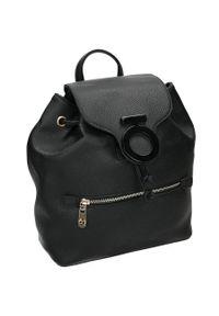 Nobo - Plecak damski czarny NOBO NBAG-J3470-C020. Kolor: czarny. Materiał: skóra ekologiczna. Styl: elegancki, casual