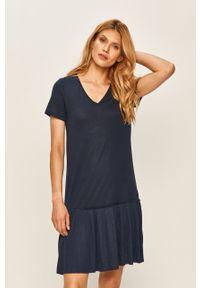 Niebieska sukienka Vila casualowa, na co dzień, prosta, mini