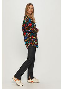 Niebieskie jeansy bootcut Love Moschino z podwyższonym stanem