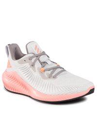 Szare buty do biegania Adidas Adidas Alphabounce, z cholewką