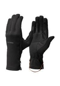 FORCLAZ - Rękawiczki trekkingowe TREK 500 Respi. Kolor: czarny. Materiał: poliester, elastan. Sezon: wiosna, jesień