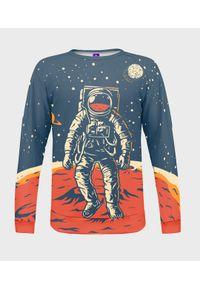 MegaKoszulki - Bluza damska fullprint Astronauta. Długość: długie. Styl: klasyczny