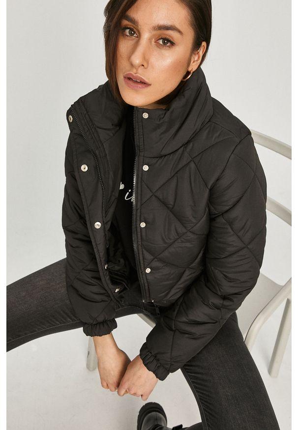Czarna kurtka Answear Lab gładkie, bez kaptura