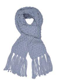 Niebieski szalik TOP SECRET elegancki, na zimę