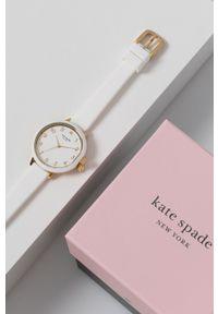 Kate Spade - Zegarek. Kolor: biały. Materiał: tworzywo sztuczne, materiał