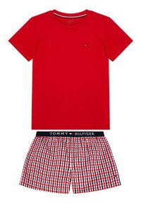 Czerwona piżama TOMMY HILFIGER z nadrukiem