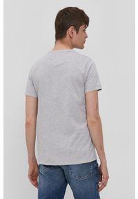 Tommy Jeans - T-shirt. Okazja: na co dzień. Kolor: szary. Materiał: bawełna, dzianina. Styl: casual