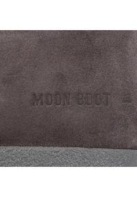 Szare śniegowce Moon Boot na zimę, z aplikacjami, z cholewką