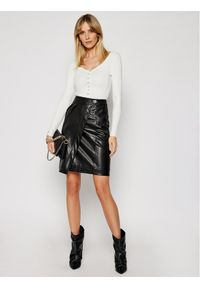 Morgan Sweter 211-MFLORA Biały Slim Fit. Kolor: biały