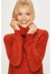 Czerwony sweter Vila casualowy, raglanowy rękaw, na co dzień