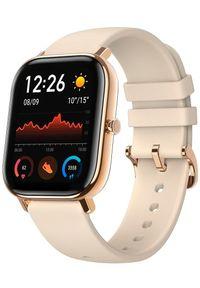 AMAZFIT - Amazfit smartwatch GTS, Desert Gold. Rodzaj zegarka: smartwatch. Kolor: złoty. Styl: sportowy