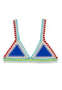 KIINI - Top od bikini Tuesday. Kolor: niebieski. Materiał: poliester, materiał, bawełna. Wzór: kolorowy