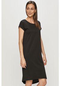 Czarna sukienka Vila prosta, mini, casualowa, z krótkim rękawem