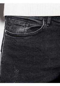 Ombre Clothing - Spodnie męskie jeansowe P940 - czarne - XXL. Kolor: czarny. Materiał: jeans. Styl: klasyczny
