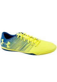 Żółte buty sportowe Under Armour z cholewką, w kolorowe wzory