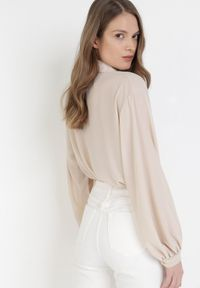 Born2be - Jasnobeżowa Koszula Arritune. Kolor: beżowy. Długość rękawa: długi rękaw. Długość: długie