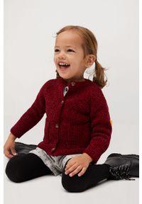 Brązowy sweter Mango Kids na co dzień, casualowy