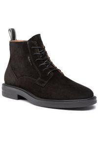 Czarne buty zimowe GANT z cholewką, eleganckie