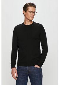 Czarny sweter Hugo długi, casualowy, na co dzień