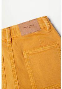 Żółte jeansy Mango Kids casualowe, z podwyższonym stanem, na co dzień