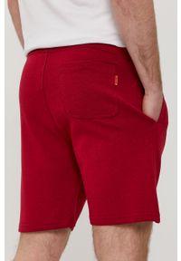 Czerwone szorty John Frank na co dzień, casualowe, gładkie