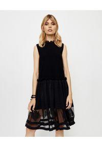 Czarna sukienka mini Alexander McQueen bez rękawów, klasyczna