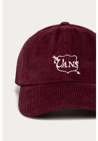 Brązowa czapka z daszkiem Vans z nadrukiem
