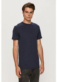 G-Star RAW - G-Star Raw - T-shirt. Okazja: na co dzień. Kolor: niebieski. Materiał: dzianina. Styl: casual