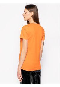 Pomarańczowy t-shirt Diesel